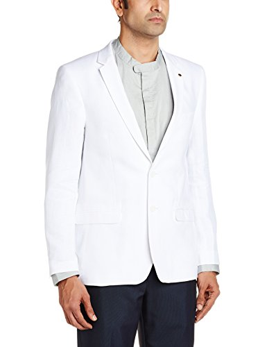 Lombard Men's Slim Fit Blazer (8907372032009_15J00522_White_40)