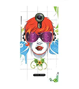 EPICCASE cool girl Mobile Back Case Cover For Alcatel One Touch Flash 2 (Designer Case)