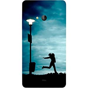 Casotec Girl Running At Night Design Hard Back Case Cover for Microsoft Lumia 540