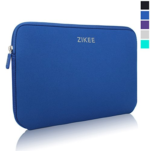 Zikee Laptop Sleeve Case per 15 15.6 Pollici Neoprene Water resistant Notebook Netbook Computer Portatile Computer Briefcase Carrying Case Cover Bag Custodia Borsa Involucro per Laptop, for Acer/ASUS F555LA 15.6/Dell Inspiron/HP/Samsung/Toshiba Satellite(Dark Blu)