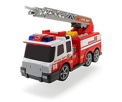 Dickie Toys 203308358 - Action Series Fire Brigade, Feuerwehrauto inklusive Batterien, 36 cm