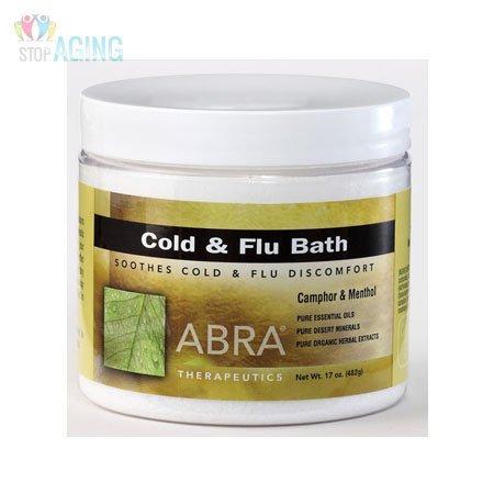 Abra Therapeutics Cold and Flu Bath Camphor and Menthol 17 oz Camphor Bath