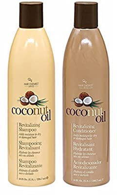 Hair Chemist Coconut Oil Revitalizing Shampoo 10 oz. & Conditioner 10 oz. (Combo Deal)