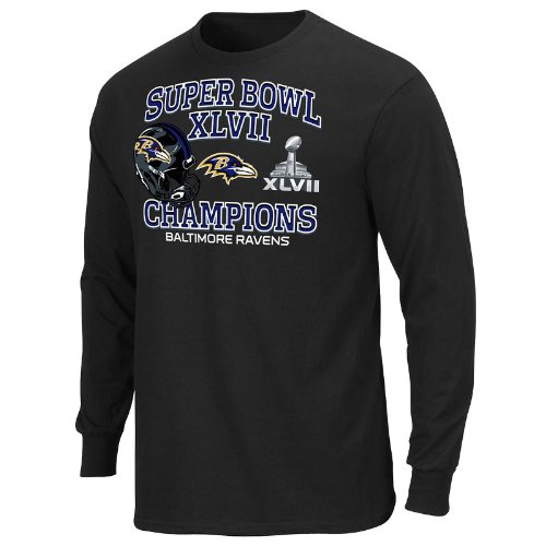 Nfl Baltimore Ravens Super Bowl Xlvii Championship Way V Long Sleeve T-shirt Picture