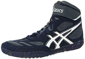 ASICS Men's Aggressor 2 Wrestling Shoe,Navy/White/Cement (9, Navy/White/Cement)