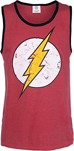 The Flash Cracked Logo Canottiera rosso screziato XL