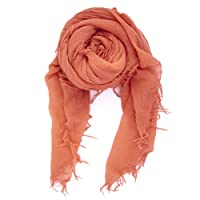 Chan Luu Cashmere and Silk Scarf in Coral Living