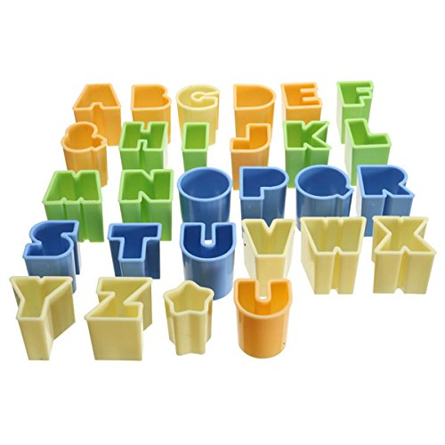 28Pcs Plastic Alphabet Letters Cake Cookie Biscuit Cutters Sugarcraft Fondant Banking Mold (Sheriffs Badge Cookie Cutter compare prices)