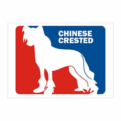 Teeburon Chinese Crested Sports Logo Sticker Pacchetto di 4