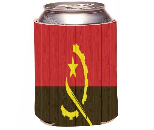 "Rikki Knight ""American Samoa Flag On Distressed Wood Design"" Beer Can/Soda Drinks Cooler Koozie front-588338"