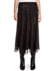 Per Una Sequin Embellished Long Skirt