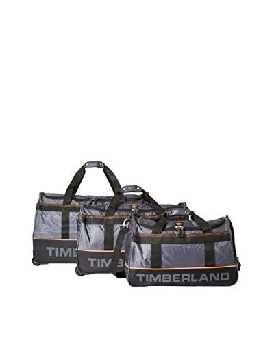 Timberland Luggage Kangamangus 3-Piece Duffle Set, Shadow Gray/Black