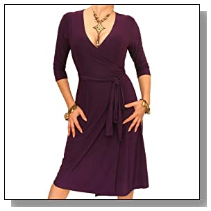 Blue Banana - Purple Elegant Slinky Wrap Dress Size 6