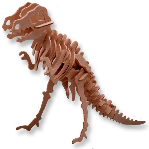 Picture of All4LessShop 3-D Wooden Puzzle - Small Tyrannosaurus -Affordable Gift for your Little One! Item #DCHI-WPZ-J014 (B004QDYENQ) (3D Puzzles)