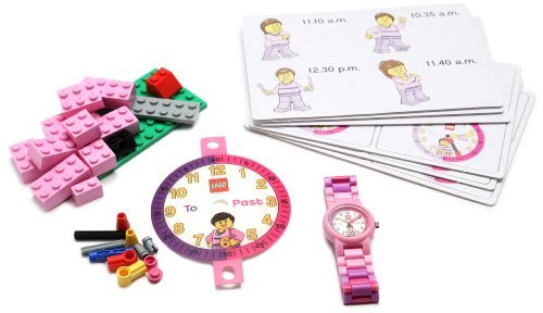 [Parallel import goods] LEGO Girls ' 9005039 'Time Teacher' Set with Minifigure-Link Watch Watch Constructible Clock and Activity Cards