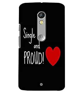 MOTOROLA MOTO X PLAY SING AND PROUD Back Cover by PRINTSWAG