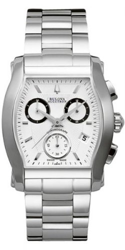 Accutron by Bulova Stratford Chronograph Stainless Steel Mens Watch Date 63B143