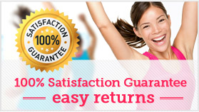 100% Satisfaction Guarantee, easy returns for products
