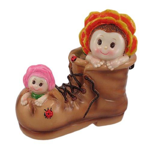 Adorable Flower Babies In Boot Money Bank Piggy