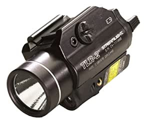 Streamlight 69120 TLR-2 C4 LED with Laser Sight Rail Mounted Weapon Flashlight, Black