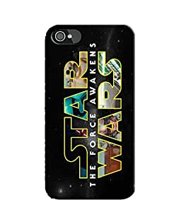 EU4IA Star Wars Typography Pattern MATTE FINISH 3D Back Cover Case For iPhone 4s - D136