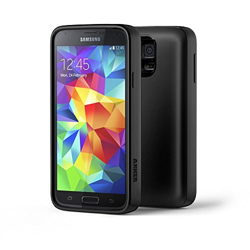 Anker® 7500Mah Extended Battery And Cover Combo For Samsung Galaxy S5 With Tpu Back Cover And 18-Month Warranty Included