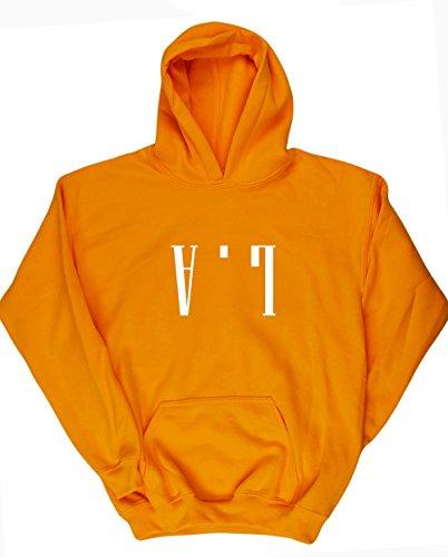 hippowarehouse-la-upside-down-kids-unisex-hoodie-hooded-top