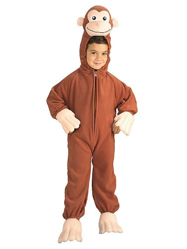 Curious George Costume, Monkey, Small front-495491