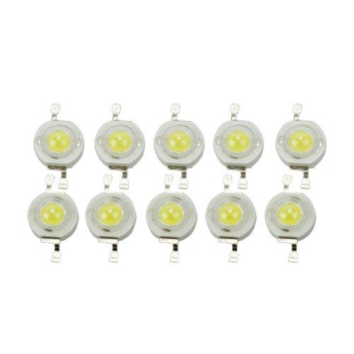 10pcs 3W Light Emitting Diode Cold White High Power Led Lamp Beads 6000K-6500K