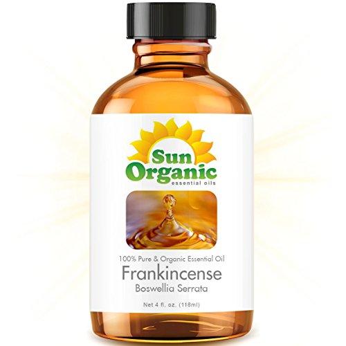 Frankincense - Large 4 Ounce - Organic, 100% Pure Essential Oil (4 Fl Oz / 118Ml) - Sun Organic