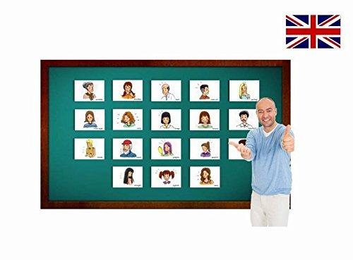 Describing People Flashcards - Personenbeschreibung - Bildkarten in Englisch fu00fcr den ...