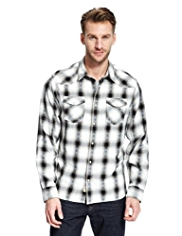 North Coast Pure Cotton Slim Fit Checked Shirt