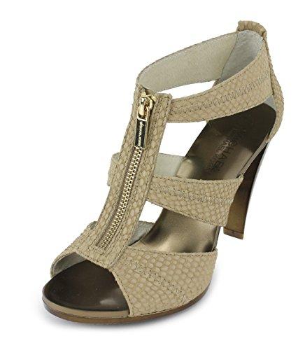 Michael Michael Kors Women'S Berkley T-Strap Sandal,Nude Embossed Snake,7 M Us