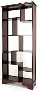 "Unique Japanese Style Asian Furniture - 78"" Asian Design Curio Display Shelf Unit Book Case - Extra Tall 6 and a Half Feet"