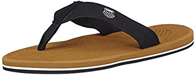 K-Swiss K-SWISS PLUSH SANDAL, Herren Sneakers, Schwarz (BLACK/BROWN 003), 39.5 EU (6 Herren UK)