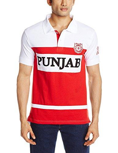 Kings XI Punjab  Polo T-Shirt, Small (Red/White)