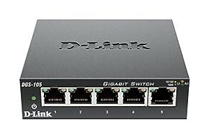 D-Link 8 Port 10/100 Unmanaged Metal Desktop Switch (DES-108)