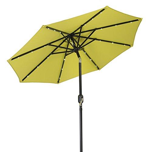 Trademark innovations solar led patio umbrella light for Solar patio umbrella replacement parts