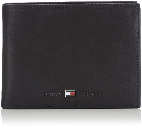 Tommy Hilfiger Johnson Cc And Coin Pocket Porta carte di credito, 75 cm, Nero