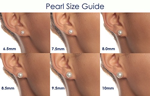 HinsonGayle Thank You Gift Handpicked 6-7mm White Button Freshwater Cultured Pearl Stud Earrings