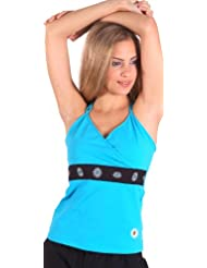 Margarita Turquoise Top with Black Waist