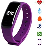 ISTYLE Latest M8 Bluetooth 4.0 Smart Bracelet Blood Pressure Heart Rate Monitor Waterproof Fitness Tracker For...