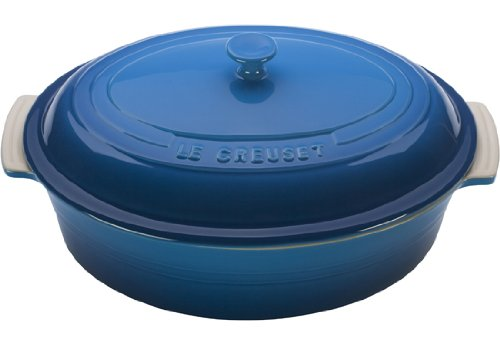 Le Creuset Stoneware 5-3/4-Quart Covered Oval Casserole, Marseille