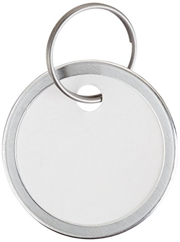 Avery Key Tags, Split Ring, White, 1.25 Inch Diameter, Pack of 25 (11027) (White Rims compare prices)