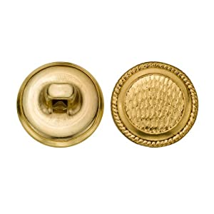 C%26C%20Metal%20Products%20Corp C&C Metal Products 5063 Rope Rim Fish Sale Surface Metal Button, Size 24 Ligne, Gold, 72-Pack at Sears.com
