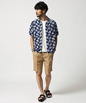 ナノ・ユニバース(nano・universe) TN Rayon Hawaiian Shirt S パターン1 TABLOID NEWS