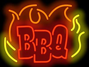 BBQ Flame Neon Sign - Picture Lights - Amazon.com