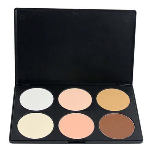 Outop Professional 6 Colors Contour Face Powder Makeup Blush Palette