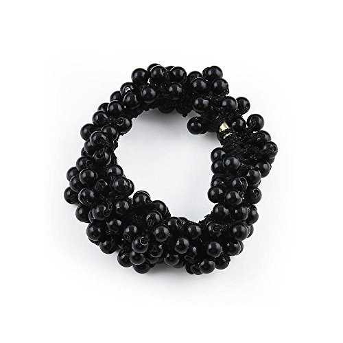Dickness Beads Pearls Fashion Women Hair Band Rope Scrunchie Ponytail Holder Elastic