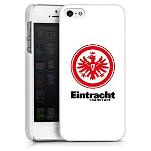 Apple iPhone 5 Case Hülle Cover Schutzhülle HardCase white - Eintracht Frankfurt weiss rot